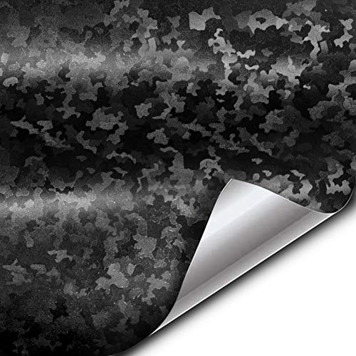 VViViD+ 2020 Edition Black Stealth Small Pattern Camouflage Vinyl Wrap Roll (1ft x 5ft)