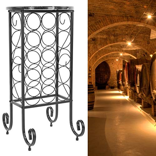 El Soporte para Botellas de Vino, la instalación Independiente del Estante para vinos es un Estante de Metal Simple para el hogar, para el Bar, para la Bodega, para la Cocina, el Restaurante
