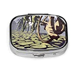 Caja de píldora cuadrada de moda Bolsa de almacenamiento de medicina Bolsa de medicina de bolsillo Bolsa de almacenamiento Hell-of-The-North-Retro-Cycling-Illustration-Poster