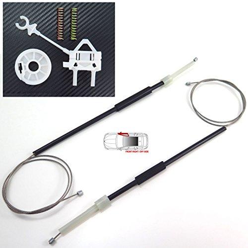 FIAT DOBLO fenêtre électrique Régulateur Kit de réparation avant droite 2001–2010, Off côté, OFS, O/S, UK pilote, fenêtre Régulateur de câbles, pinces, Poulie