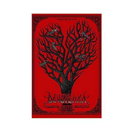 Emek Devotchka Poster TConcert Poster, Konzert Poster, Leinwand Poster, Wandkunst, Deko, Bild, Gemälde für Wohnzimmer, Schlafzimmer, Dekoration, ungerahmt, 20 x 30 cm
