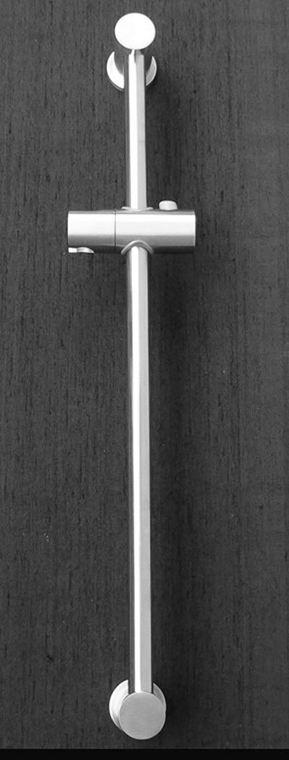 Stainless Steel Shower Slide Rail Size 63cm Adjustable Robust Strong New