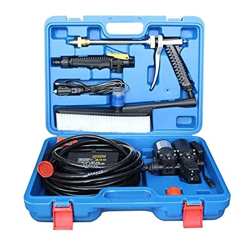 SDDDS Lavadora de Autos de Alta presión, Kit de Limpieza de Lavado automático, Bomba de Lavado de lavavajillas portátil, apague la Pistola y Detener el Agua, la Lavadora de 12V