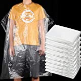 250 Pieces 51.2 x 36.2 Inch Disposable Barber Cape Waterproof Hair Dye Coloring Cape Transparent Salon Hair Cutting Styling Apron Shampoo Cape Barber Hairdressing Cape for Hairdresser, Barber, Salon