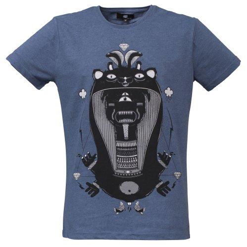 40by1, Herren T-Shirt, Osiris, Do Some Crazy Shit, Fashion Tee, Blue Melange, 40/1-GAS-12-003, GR L