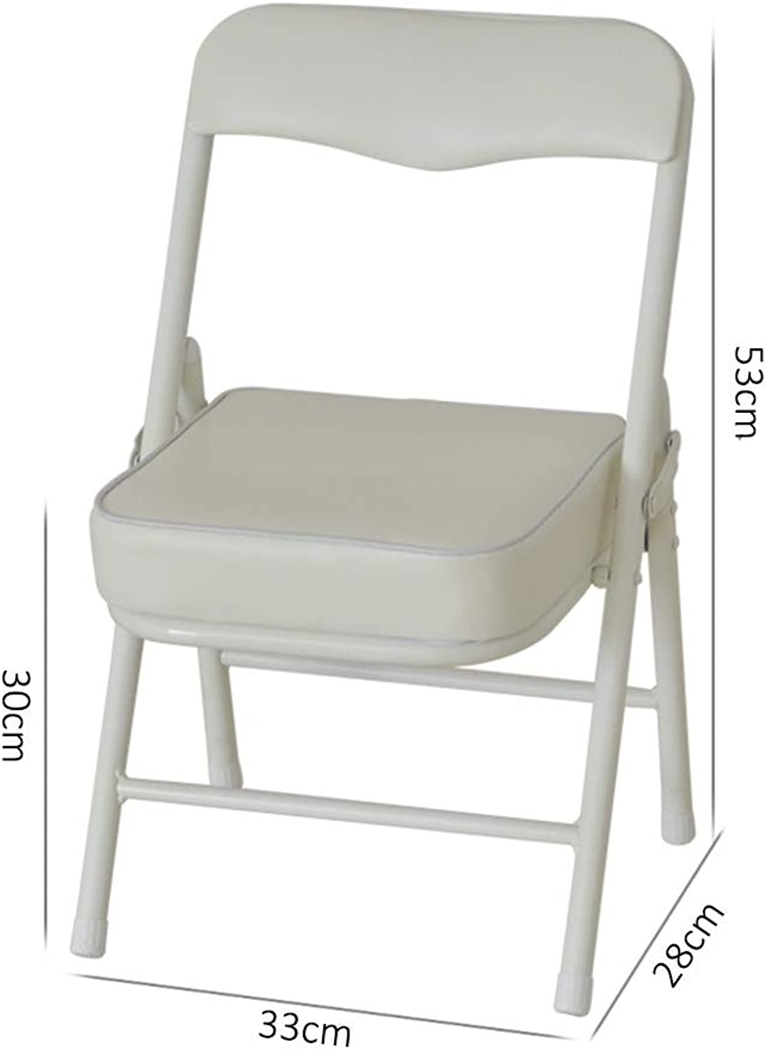 ZHAOYONGLI Footstools,Otools High Strength Foldable Stool Unique and Ergonomic Seat Design (color   White, Size   33  28  53cm)