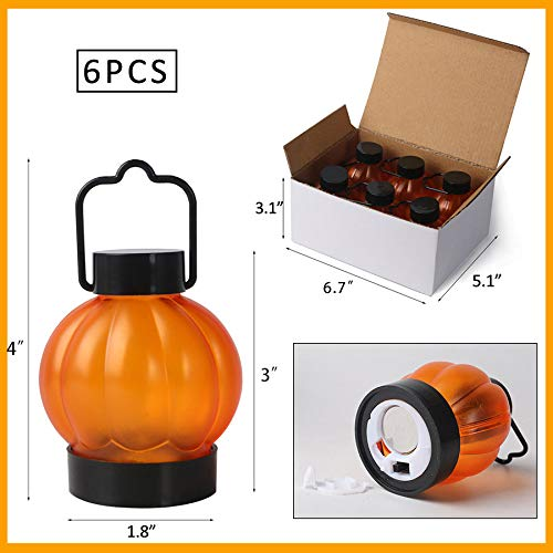 MBTRY Pumpkin Lantern Led Electronic Pumpkin Light Halloween Pumpkin Lantern 6Pcs for Halloween Party Decoration
