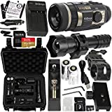 SiOnyx Aurora Pro Explorer Night Vision Monocular Camera Kit & SanDisk Extreme 64GB microSD Card – Includes: 2X NP-50 1100mAh Battery & Charger, IR Flashlight with 2X 18650 Battery & Charger & More