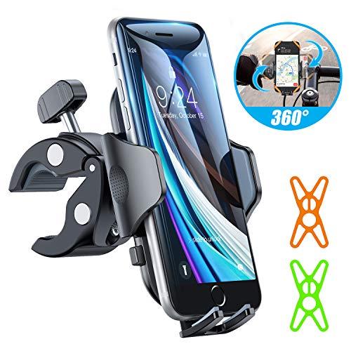 andobil Handyhalterung Fahrrad Handyhalterung Motorrad Upgrade Anti-Shake & 100% stabil Handyhalter Fahrrad 360°Drehbare Fahrradhalterung für iPhone 11/SE 2020/Samsung S10/Note10/ Huawei Xiaomi Usw