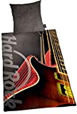 Rock Cafe Ropa de Cama Liso Duro Guitarra Retro 135 X 200cm Regalo Nuevo Wow - All-In-One-Outlet-24