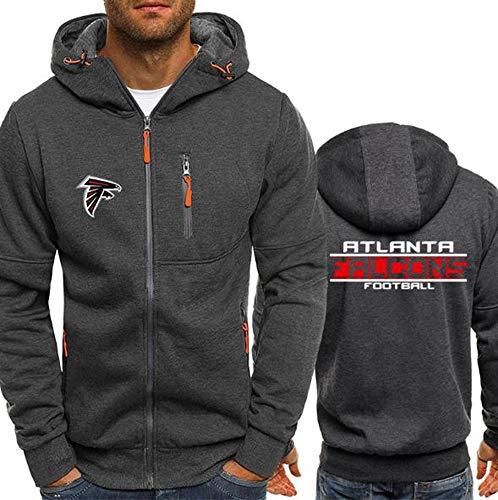 Herren Trikot NFL Atlanta Falcons Plus Samt Hoodie Baseball Sweatshirt Baumwolle Atmungsaktiv Klassisch Langarm Sportbekleidung XL