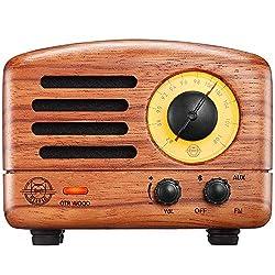 small Retro bluetooth speaker, portable mini FM radio MUZEN OTR Wood 5W, wireless vintage speaker, …