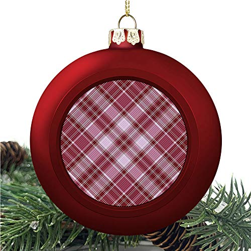 SUPNON Checkered Checkered Pattern | Christmas Ball Ornaments 2020 Christmas Pendant Personalized Creative Christmas Decorative Hanging Ornaments Christmas Tree Ornament №AM007258