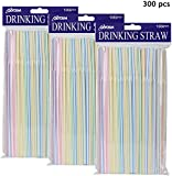 [300 Pack] Olycism Plastic Straws Disposable Straws BPA Free Bulk Drinking Suppliers Perfect for Parties/Bar/Beverage Shops/Home Straws for Kids and Adults