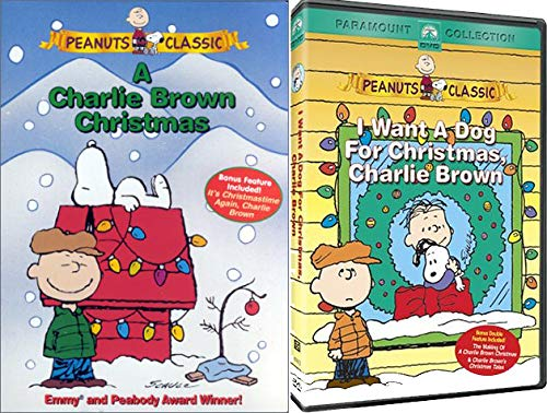Peanuts Classics Double Holiday Feature - A Charlie Brown Christmas & I Want a Dog For Christmas, Charlie Brown 2-DVD Bundle