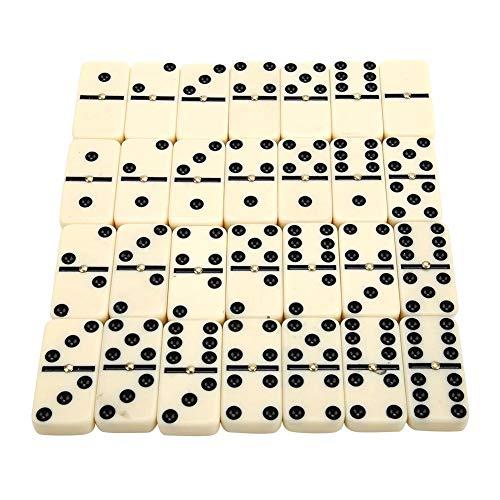 28pcs/Set Juego de Cartas Mini Dominoes Juego de Mesa Interactivo para niños Juego Blanco con Puntos Negros Juego Tradicional