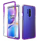 OnePlus 8 Pro Case, Onyxii Full-Body Rugged Ultra Transparency Hybrid Protective Case for OnePlus 8 Pro 5G (Purple)
