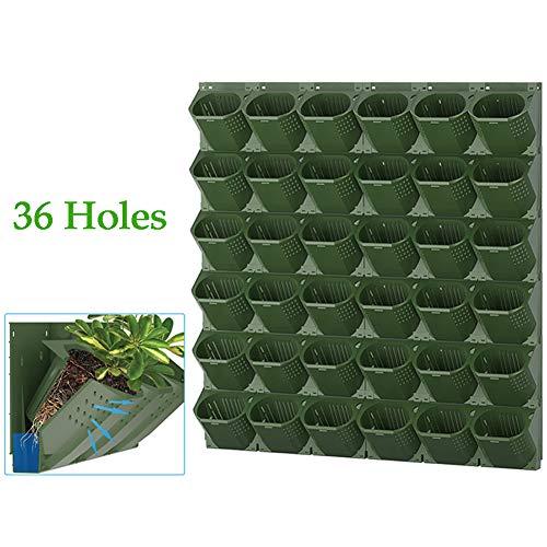 Verticale tuinmuur plantenbak, 36 zakken Verticale wandgemonteerde plantenbak, Tuin Zelf water gevende bloempot, Planten met grote capaciteit