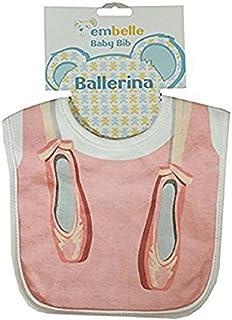 Embelle Baby Girl Ballerina Toe Shoe Cotton Knit Bib Pink [並行輸入品]