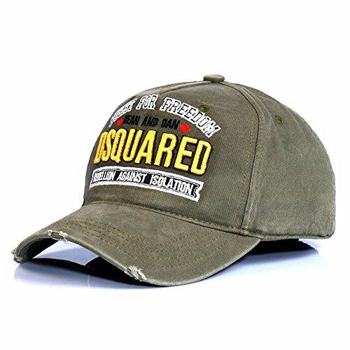HYP@Baseball Cap/Baseballkappe/Trucker Cap/Trucker Hat/Golf Sport Outdoor Kappe Mütze CapFreizeit - Gap Baumwolle Tide Outdoor, Grün, einstellbar