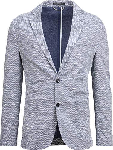 Drykorn Herren Jersey-Blazer in Blau mit Zick-Zack-Muster 52 / XL