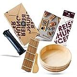 Reishunger Kit para Hacer Sushi XXL (con Easy Sushi Maker de 3,5 cm) - Set Completo de Accesorios para una Tarde Ideal de Sushi