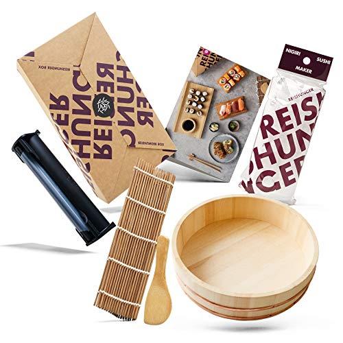 Reishunger Sushi Equipment Box (mit Easy Sushi Maker Ø 3,5 cm) Maki, Inside-Out und Nigiri Sushi zu Hause zubereiten (Equipment Box XXL)