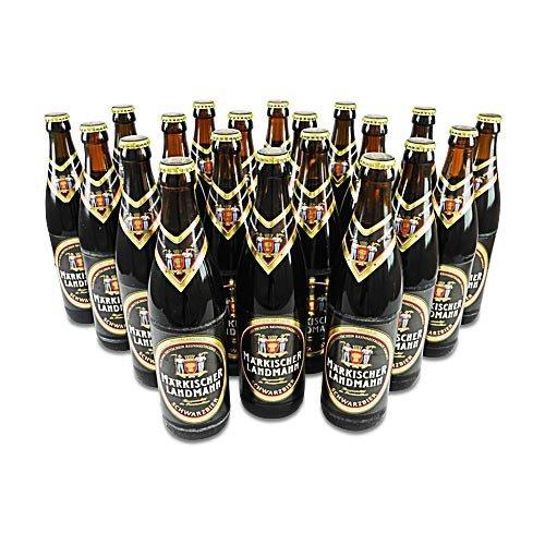 Märkischer Landmann Schwarzbier (20 Flaschen à 0,5 l / 4,9% vol.)