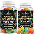 New Age Naturals Advanced Hemp Gummies 9000mg Extra Strength- 2 Pack - 180ct - 100% Natural Hemp Oil Infused Gummies - Vegetarian, Non GMO from New Age