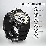 Kariwell Men Sports Smart Watch - IP68 Waterproof Fitness Tracker Dynamic Heart Rate Sleep Monitoring GPS Ultra-Long Battery Life Kari-48 (Gold)