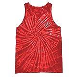Colortone - Camiseta sin Mangas con Efecto teñido para Mujer (Mediana (M)) (Espiral roja)