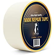 Bookbinding Tape, White Cloth Book Repair Tape for Bookbinders, Semi-Transparent Hinging Tape, Craft Tape, 2 Inches by 45 Feet