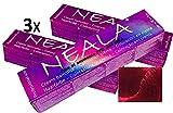 Pack 3 Matizador Profesional SIN AMONIACO y libre de PPD y MEA - M5 - ROJO -Intensificador de color ROJO especial para mechas- NEALA 3x100ml.