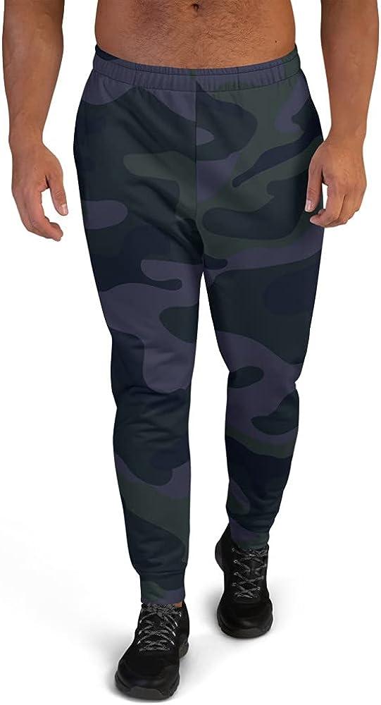 Therapy Designs Dark Deep Blue Men's cheap Max 57% OFF Camo Pattern Joggers