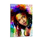 JIANGJUNT Lauryn Hill Poster, dekoratives Gemälde,