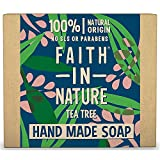 Faith In Nature Pure Vegetable Soap. Teebaum Seife. 100g Stück
