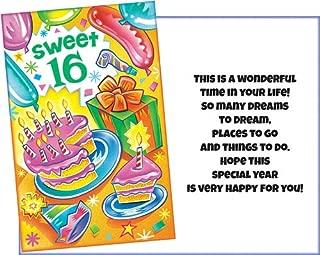Prime Greetings Happy Sweet 16 Birthday Card