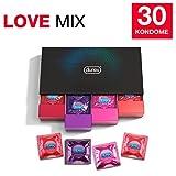 Durex Love Collection Kondome in stylischer Box – Aufregende Vielfalt, praktisch & diskret verpackt - für gefühlsintensive Erlebnisse – 30er Pack (1 x 30 Stück)