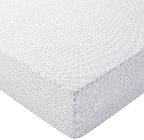 Amazon Basics - Lenzuolo con angoli in microfibra, 160 x 200 x 30 cm, Grigio tratteggiato