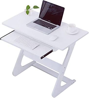 Amazon.com: go2buy Small Spaces Computer Desk with Keyboard Tray ...