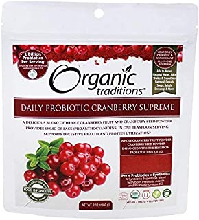 Organic Daily Probiotic Cranberry Supreme Powder Supports Urinary Tract Health (50 Servings)