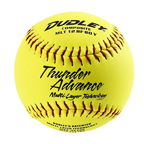 "Dudley Thunder Advance 12"" Slow Pitch Softball - Composite Cover - Pack of 12"