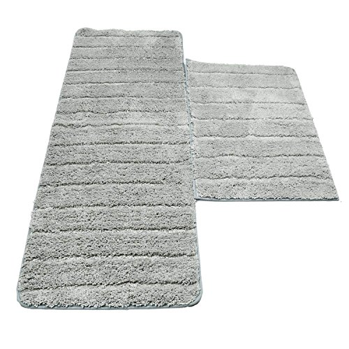 U'Artlines Lot de 2 Tapis de Bain Anti-Glissant...