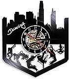 Reloj De Pared Reloj De Pared De Vinilo Hip Hop Street Dance Arte De Pared Decoración De Fiesta De Baile Reloj De Pared Break Dance Reloj De Pared De Vinilo Vintage con Led