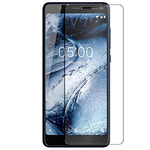 Conie 9H2538 9H Panzerfolie Kompatibel mit Nokia 5.1, Panzerglas Glasfolie 9H Anti Öl Anti Fingerprint Schutzfolie für Nokia 5.1 Folie HD Clear