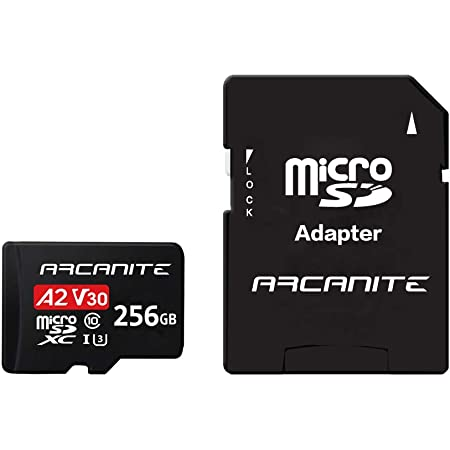 ARCANITE 256GB microSDXC Memory Card with Adapter - A2, UHS-I U3, V30, 4K, C10, Micro SD - AKV30A2256