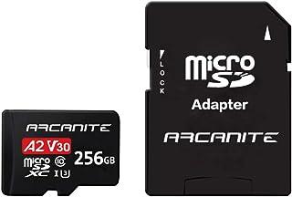 【Amazon.co.jp 限定】アルカナイト(ARCANITE) 256GB microSDXCカード 【A2】、UHS-I U3、V30、4K、C10、SDアダプター付き - AKV30A2256