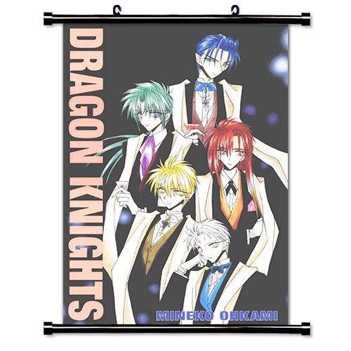 Dragon Knights Anime Fabric Wall Scroll Poster (16 x 23) Inches