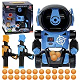 DoDoMagxanadu Target Shooting Games, Robot Shooting Toys for Kids, Electronic Scoring Target Practice Toys with 2Pcs Air Pump Gun, 24 Soft Foam Balls, Fun Outdoor Indoor Gift Toys for Boys and Girls