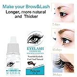 Hometom Eyelash Serum Supplement Liquid | Fast Rapid Growth Vitamins Solution | For Thicker and Fuller Eyelashes & Eyebrows (White)
